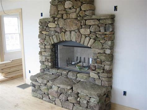 how to build a river rock fireplace fireplace