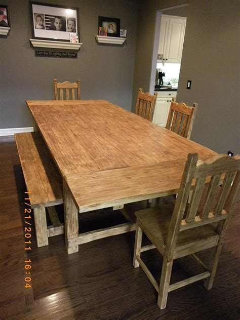 Farmhouse Table With Bench And Chairs by Unavailable Listing On Etsy