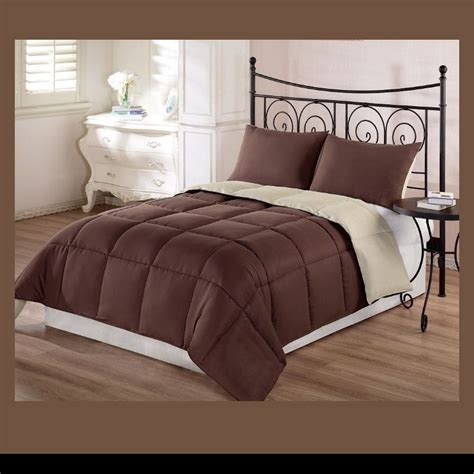 tan down alternative comforter comforter set 3 piece king size goose down alternative