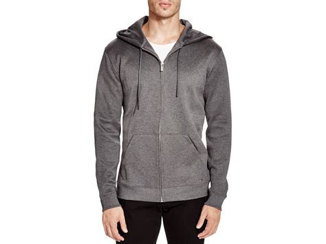 Hoodie Exclusive Hitam 1 lyst hugo deyes b zip hoodie 100 bloomingdale s exclusive in gray for