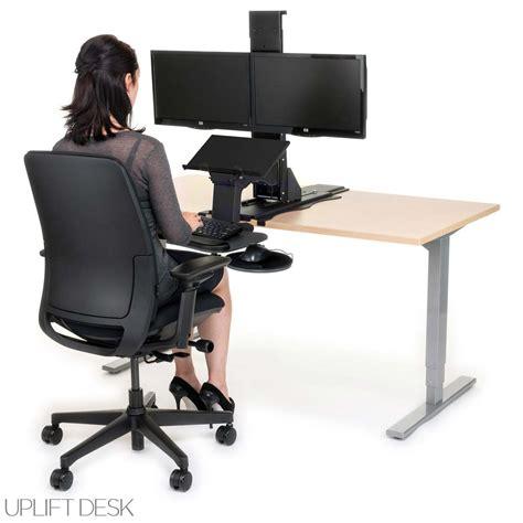 simple standing desk converter shop uplift standing desk converters