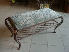 wrought iron bench with cushion wrought iron furniture chairs and benches modern