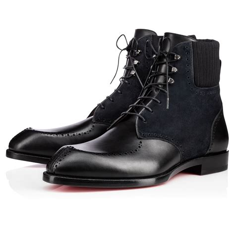 christian louboutin wolfgang leather suede boots in