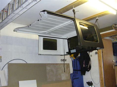 garage top hoist winch system american expedition