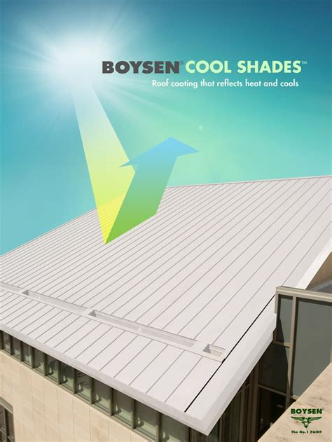 boysen cool shades is a heat reflective colored roof coating that is water based has low voc