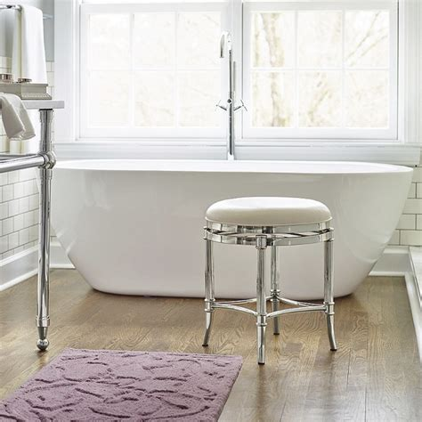 bathroom vanity stool or bench bailey vanity stool traditional vanity stools and benches by frontgate