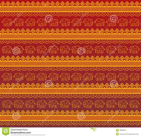 gold rate pattern in india red and gold indian elephant henna background stock vector