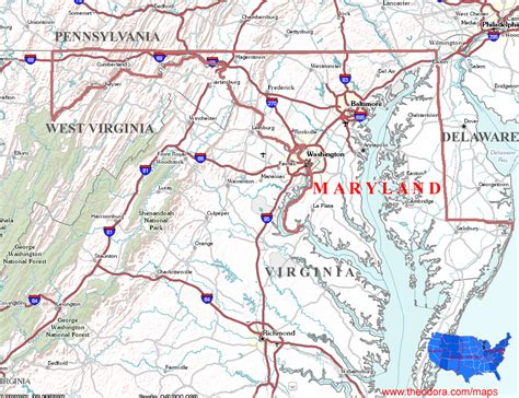 Search State Md Us Maryland State Map Afputra