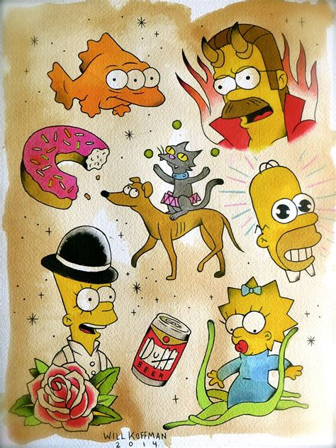 the simpsons tattoo pin by will koffman on will koffman tattoos