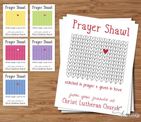 prayer shawl card template flat cards heartstitch collection