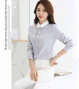 Kemeja Abu Abu Elegan Import Murah Cotton Shirt kemeja wanita abu abu cantik terbaru model terbaru jual murah import kerja