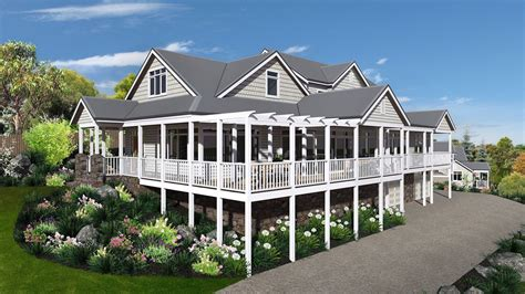 One Story House Plans With Two Master Suites by Storybook Hamptons Style Design