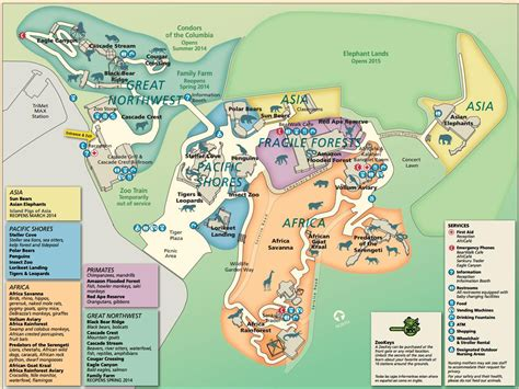 map of oregon zoo 2014 march