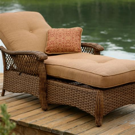 Comfortable Outdoor Lounge Chairs by Veranda Agio Outdoor Woven Chaise Lounge By Agio Patio