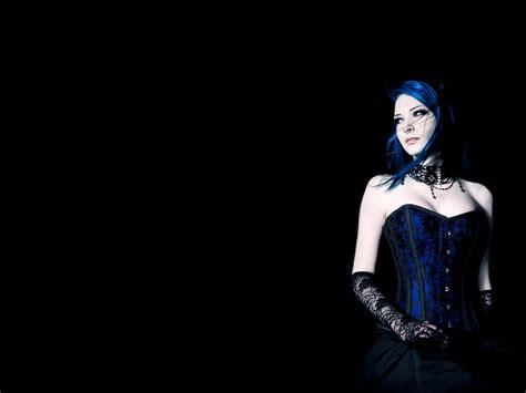 anime girl corset wallpaper gothic girl in blue corset wallpaper from gothic girls