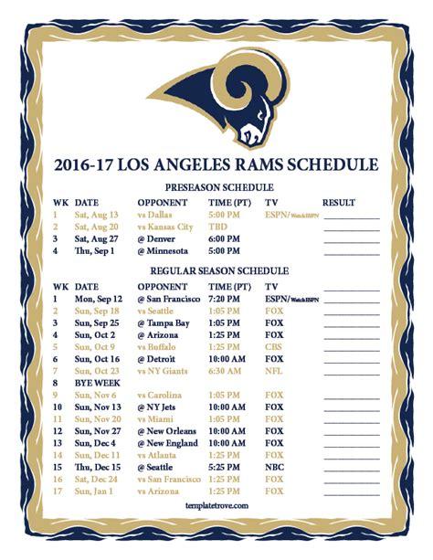 schedule rams image gallery rams 2016 schedule