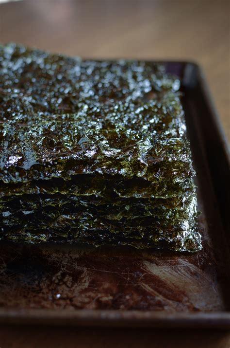 homemade roasted seaweed  kimchee