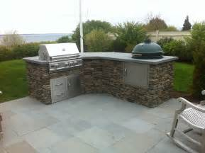 outdoor kitchen built artificial rock craftsman