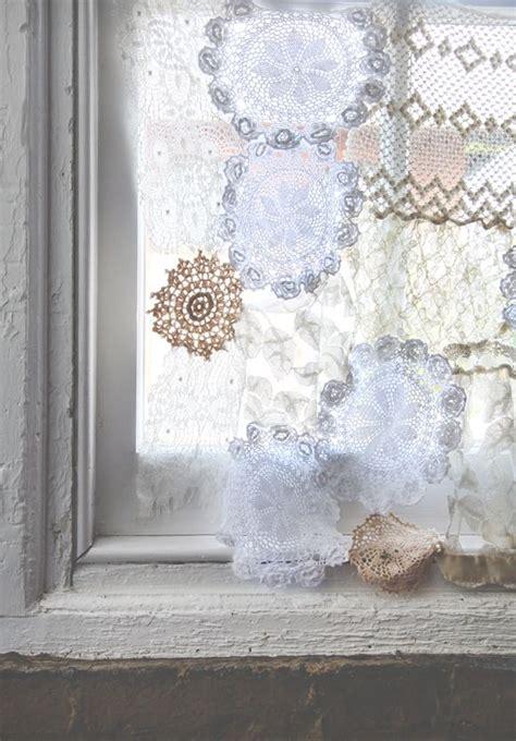 doily curtains diy lace doily curtaindiy ideas lace projects decor