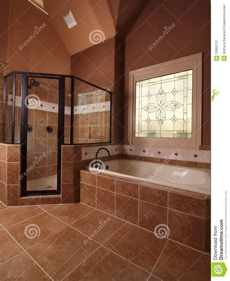 Luxury home tile bathroom with window royalty free stock photo image 10992175
