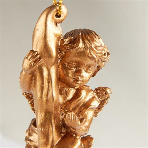 gold icicle cherub ornament christmas ornaments
