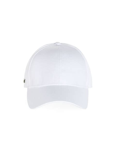 lacoste cotton baseball cap in white for lyst