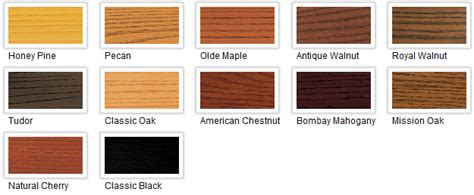 Woods L Color Chart by Minwax Polyshades Gloss Quart