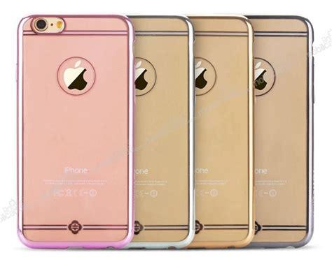 Totu Series For Iphone 66 Plus totu design simple series iphone 6 plus 6s plus silver metalik kenarlı şeffaf silikon kılıf