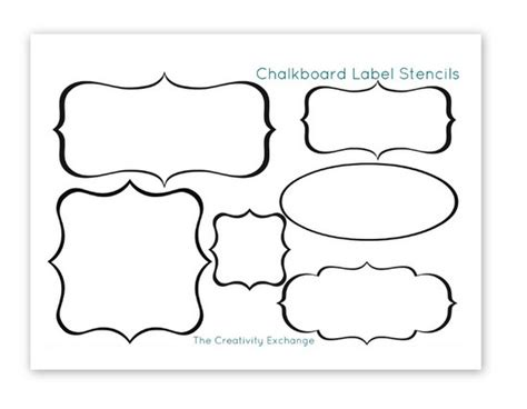 Free Printable Stencils To Make Vinyl Chalkboard Labels Free Tags Templates