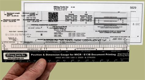 Micr Check Position Gauges Verify Accurate Check Printing Micr Check Template