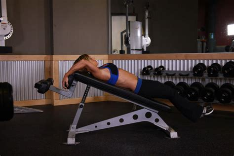 reverse crunch on bench decline reverse crunch exercise guide and video