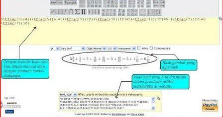 membuat artikel dengan latex menulis rumus matematika secara online dengan latex