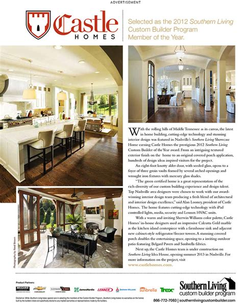 custom home builder magazine nashville southern living custom builder to build idea house castle custom homes home