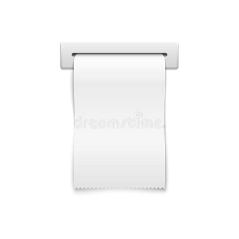 shopping receipt template blank vector shopping receipt stock vector image