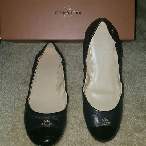 Authentic Coach Flatshoes 51 coach shoes authentic coach patent leather flats size 8 5 from silma s closet on poshmark