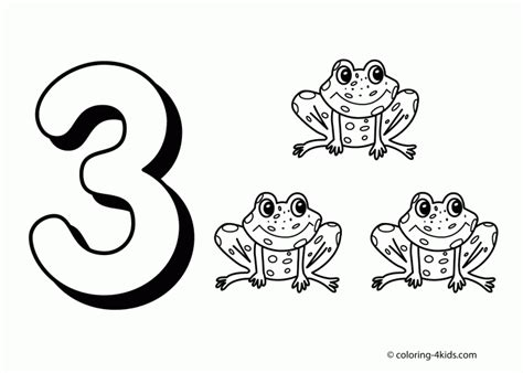coloring page of the number 3 coloring pages number 3 preschool coloringcoloring