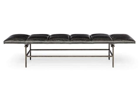modern black bench contemporary black leather bench benches