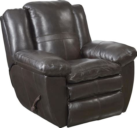 chocolate leather recliner catnapper aria top grain italian leather lay flat power
