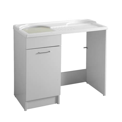 mobile bagno porta lavatrice mobile con lavatoio e porta lavatrice 106x50x89duo