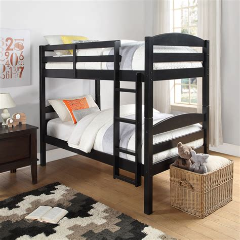 twin over twin bunk beds twin bunk beds black wood bed kids bedroom furniture