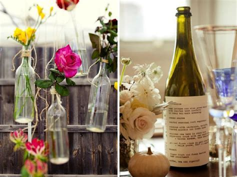 Wine Bottle Wedding Decorations