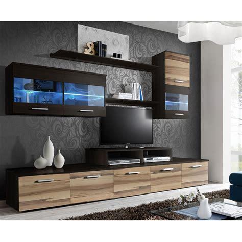 Meuble Tv Suspendu 250 by Meuble Tv Mural Design Quot Logo Quot 250cm Noyer Weng 233