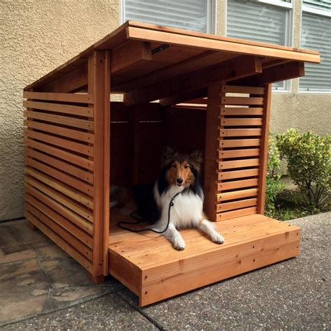 hand built dog houses hand made redwood dog house by strong wood studio custommade com