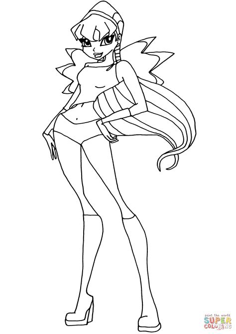 winx club coloring pages games winx club stella coloring page free printable coloring pages