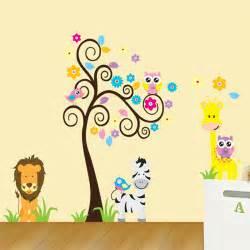 Zebra Wall Stickers aliexpress com comprar animal jirafa owl tree beb 233 de