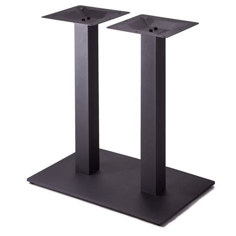 Table Column by Plaza 1828 Black Satin Table Base Square Column Dining