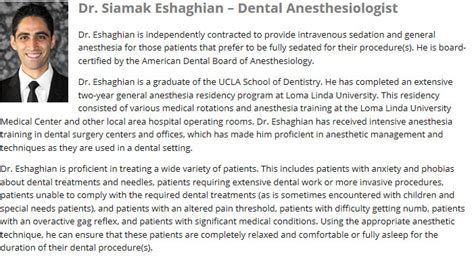 ucla biography form about our dentists