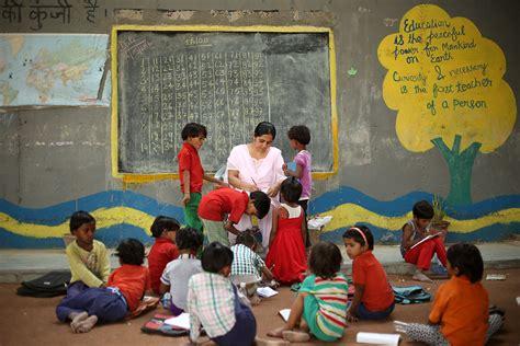 children in indian school a day in delhi s the bridge school for the poor Poor