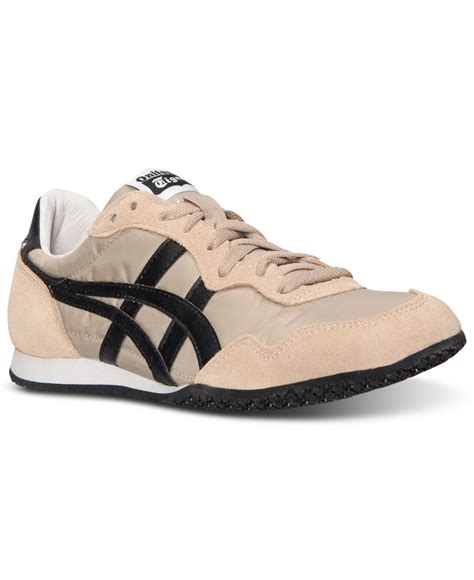 asics sneakers mens lyst asics s serrano le casual sneakers from finish