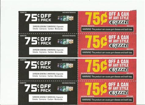 Cigarette Coupons Black And Mild Newport Grizzly Fast